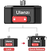 ULANZI Claw Camera Quick Release Mount, Slide Lock QR System 1/4 Adapter Compatible for Manfrotto IFOOTAGE Tripod Monopod ...