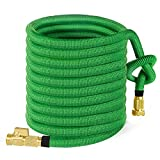 Garden Hose 100ft, HBlife Expandable Water Hose with 3/4 Solid Brass Fittings, Extra