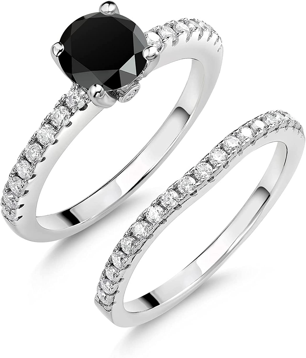 925 Max 78% Many popular brands OFF Sterling Silver Women Wedding Ring Band Engagement Bridal Se