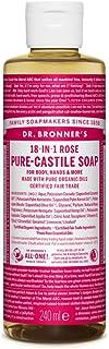 Dr Bronners Liquid Soap Roos, 240 Ml