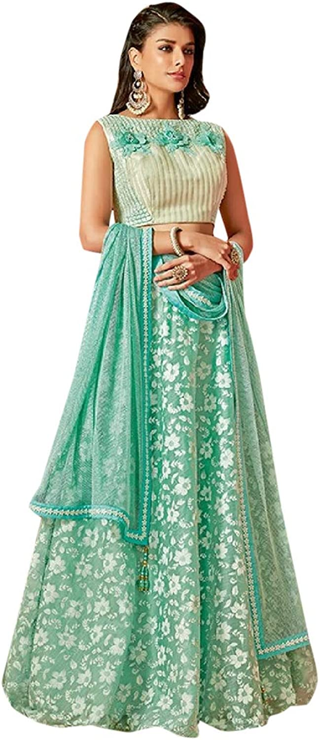 Indian Ethnic Floral Lehenga with designer Choli With Dupatta Designer Dress Collection Indian Muslim Stylish Party Wear 7278