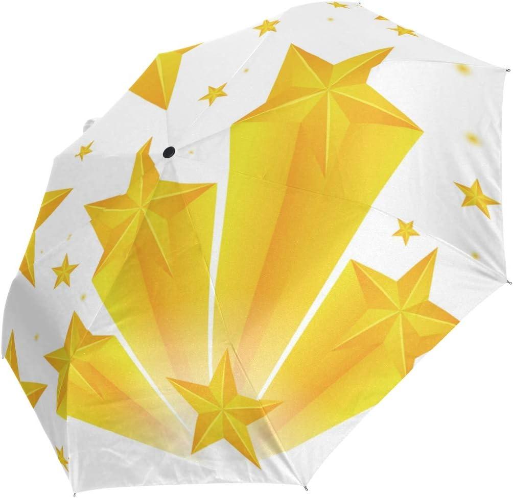 Mini Folding Umbrella Yellow Stars White Free shipping New outlet Pattern Anti Windproof