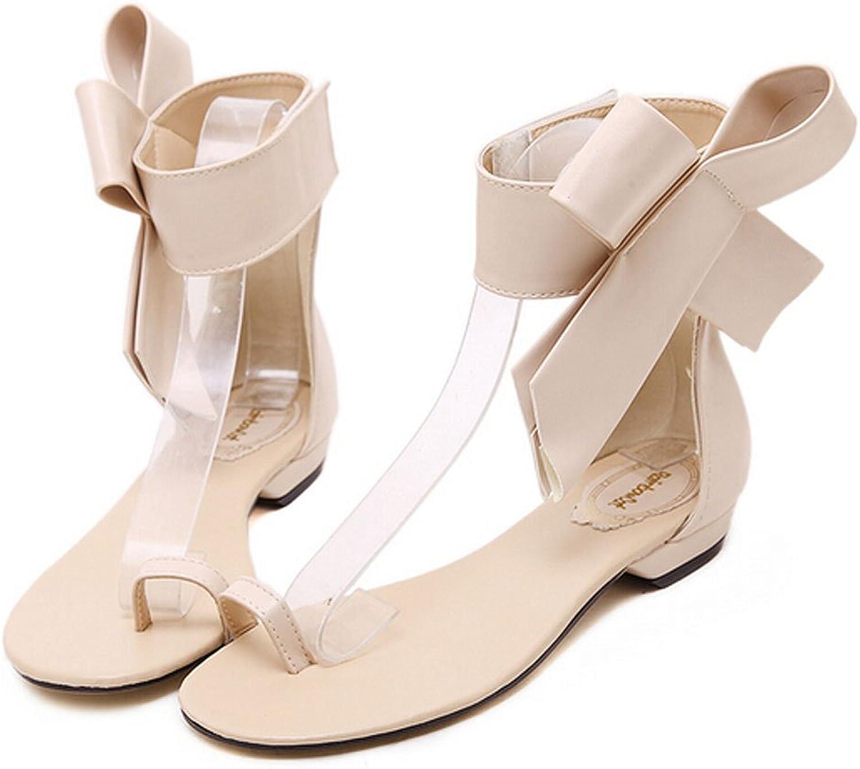 San hojas Flat Sandals Summer Beach shoes Black