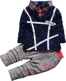 Hopscotch Boys Cotton Applique T-Shirt and Pant Set in Navy Color