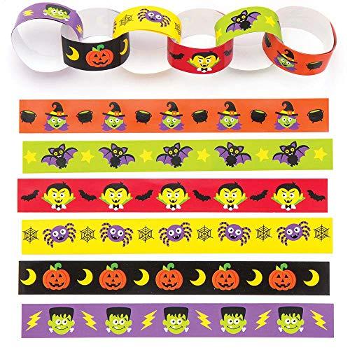 Papieren stroken met Halloween-afbeeldingen (24 stuks)