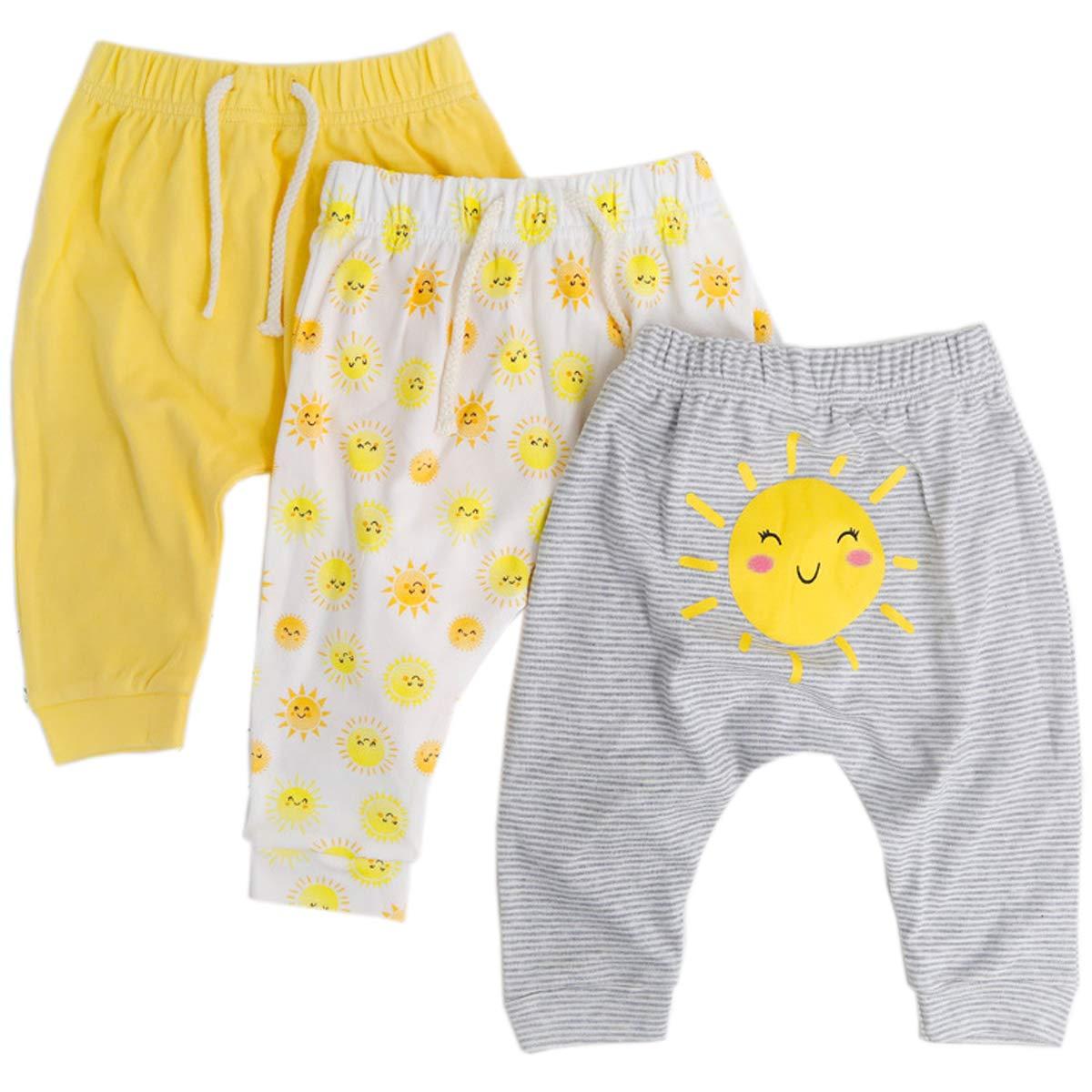Baby Girls Cotton Pants 3-Pack New Orleans Mall Trouser Mail order cheap Leggings Harem Long