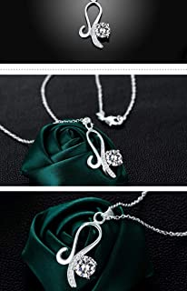 Fashion Wild Copper Silver Plated Women's Accessories Large Color Gemstone Necklace European and American high-end Quality (Color : Red) Girls Necklace (Color : White)
