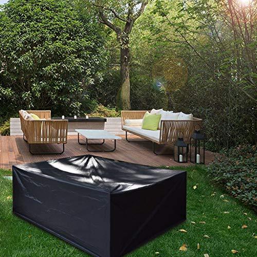 Cubiertas al aire libre de los muebles del patio, Cubierta de mesa de patio cuadrada resistente a prueba de agua Cubierta de silla de patio Oxford impermeable a prueba de viento resistente al desgarro