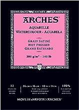 "Arches Watercolor Pad, Hot Press 10""X14"", 400014958, 10"" x 14"""