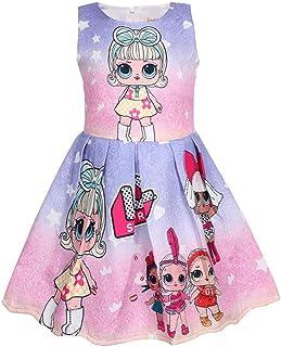 10ea210ea QYS Vestido de Las Muchachas LOL Falda Tutu Niño Ropa para niños Regalo de  cumpleaños Fiesta