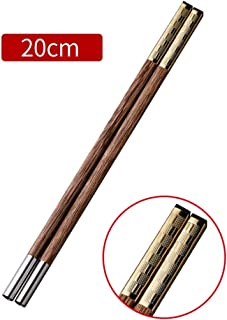 Chopsticks GGJIN Can Be Reused, Chinese Healthy Wood Bamboo Mosaic, 10 Pairs of Restaurant Families Use Materials (Brown)