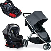 Britax B-Lively & B-Safe 35 Travel System, Dove with Extra Base Bundle