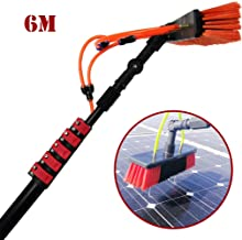 JSZMQD Window Clean Water Brush, 3.6m-9M Washing Set Equipment Telescopic Extension Pole Cleaning Suitable for Trucks Wind...