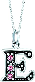 Pink Letter A-Z Alphabet Initial Charms Bead Necklace...