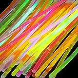 (50 piezas) Barras de brillo en colores mezclados, brillan en la oscuridad – Pulseras suministros de fiesta