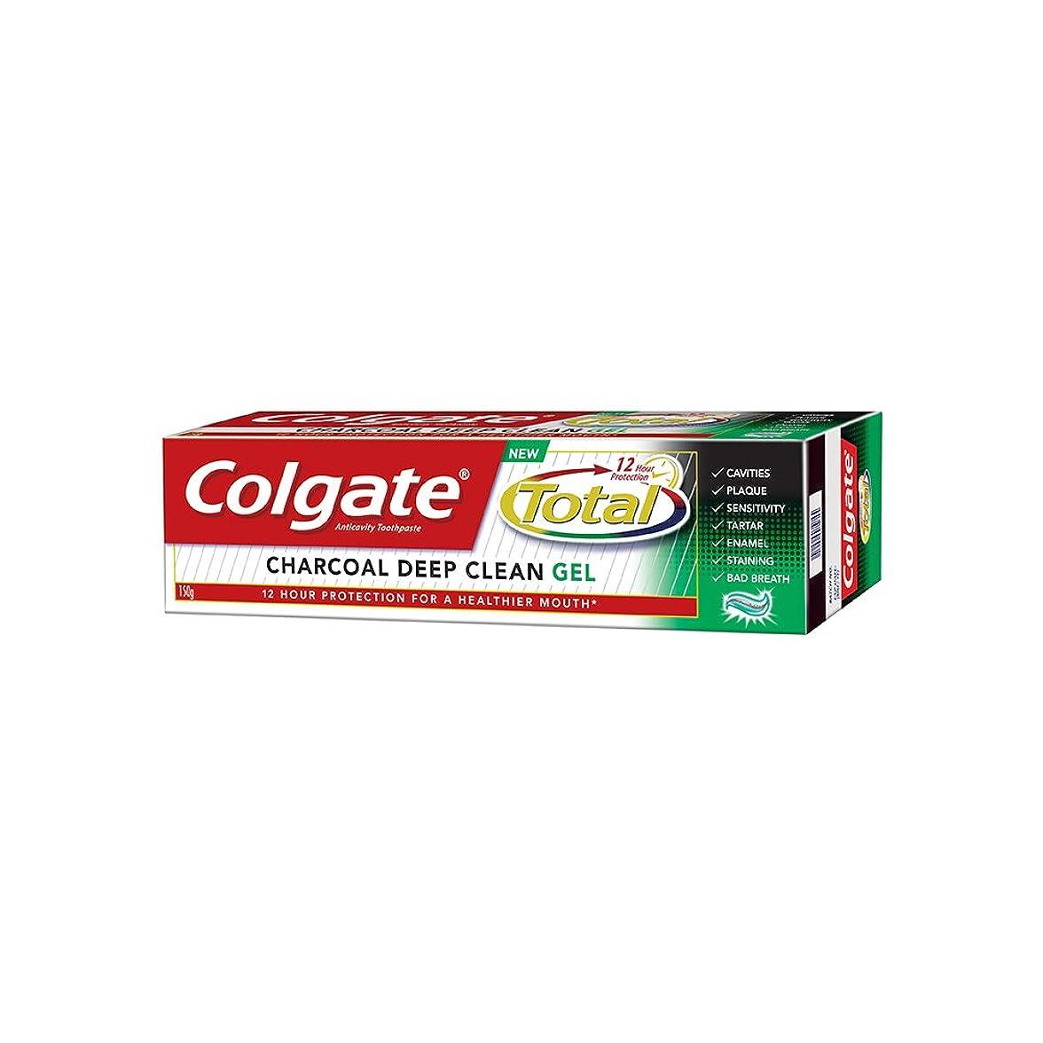 ディスカウント柔らかさ心理的(コルゲート)Colgate CHARCOAL DEEP CLEAN GEL 歯磨き粉 Total (150g, チャコール ディープクリーン)