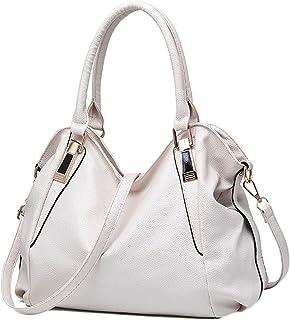 DAIHAN Handtasche Shopper Damen PU Leder Handtasche Schultertasche Umhängetasche Arbeitstasche Hohe Kapazität Shopper Umhä...