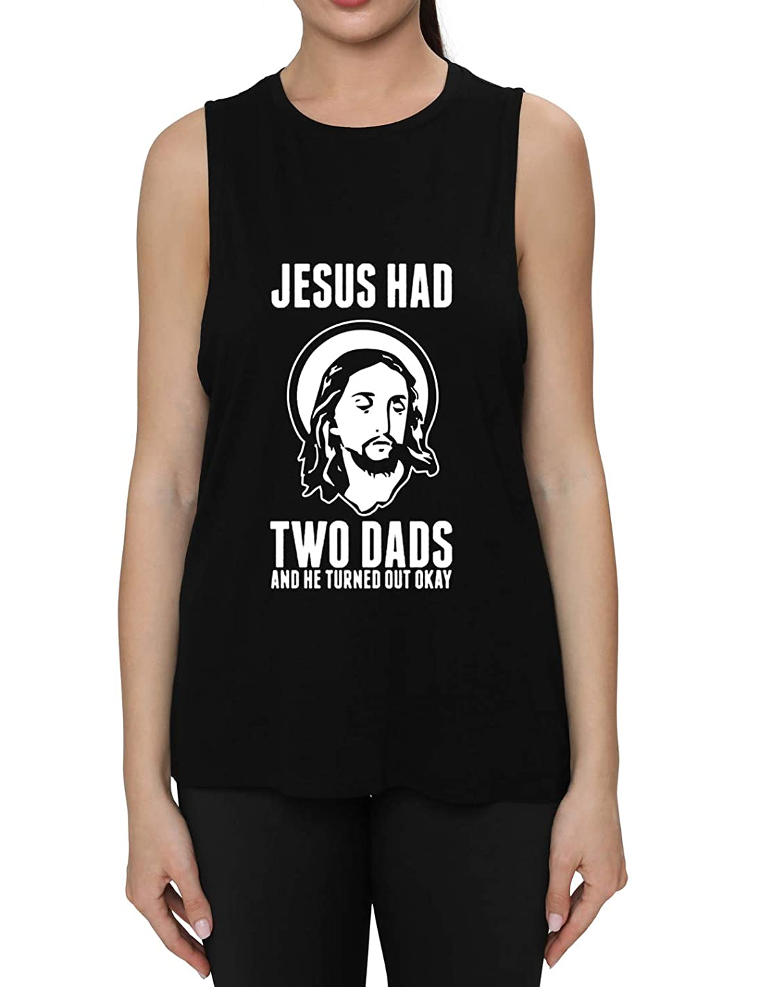 Fannoo Womens Workout Muscle Tank Tops-Humor Funny Saying Fitness Gym Religion Graphic Sleeveless Shirts for Women