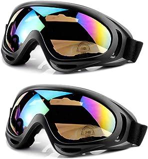 50127ea5ff MOYA Life Gafas de Esquí Prueba de Polvo Protección de la Nieve Protección  UV Ajustable Hombre