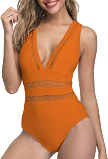 6a8ee1bd1b Tempt Me Women 1 Piece Plunge Monokini Sexy Hollow Out Swimsuits Bathing  Suit