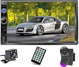"""Podofo Double Din Car Stereo/Audio/Radio, 7"""" Touchscreen Digital LCD Monitor, MP3/USB/SD/FM, Bluetooth, Wireless Remote Co..."""
