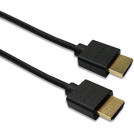 Hanwha スーバースリム ハイスピード HDMIケーブル 1.5m 細線 4K2K/フルHD/3D/イーサネット対応 PS4/PS3/Xbox360/Nintendo Switch/ニンテンドークラシックミニ対応 HDMI Ver1.4 UMA-HDMI15