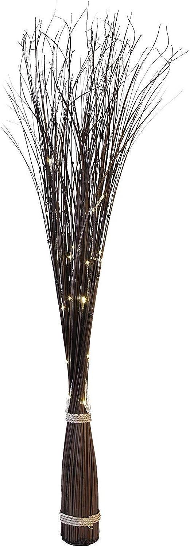 Innenrume Drauen Lichterketten Led Streifen Weihnachts Innenbe Auenbe Lauflichter Lichtschluche Sternenweidendekoration  Willow Cone  30 warmweie LED, Material Holz mit Transformator, Displaybox, 120 x 35 cm, braun