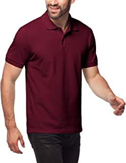 LAPASA Polo Shirt for Men, 100% Cotton, Piqué Knitted Fabric (no Jersey) Short Sleeve Golf Polo Uniform M19