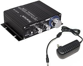 Kinter K3118 Texas Instruments TI Digital Hi-Fi Audio Mini Class D Home Auto DIY Arcade Stereo Amplifier with 12V 3A Power Supply Black
