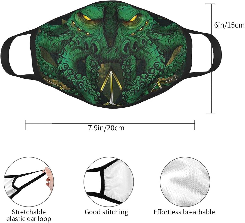 Balaclava Earmuffs Cthulhu Art Horror Art Creepy Octopus Face Mouth Cover Mask Reusable Windproof Scarf Towel Cover Headwrap