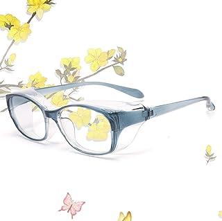 JIMMY ORANGE 花粉 メガネ ゴーグル [ブルーライト 紫外線 粉塵 飛沫 にも対策 ] 目立たない 伊達めがね 曇らない レディース メンズ 眼鏡102ブルー