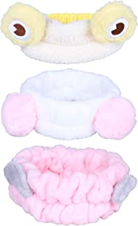 Jixin4you 3 Pack Makeup Hairbands Flannel Cosmetic Headbands Spa Head Bands Hair Wrap Hair Hoops for Shower Washing Face F...