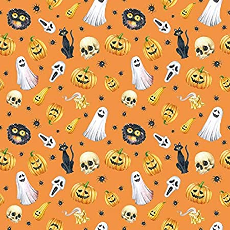 Halloween Backdrop 4x4ft Masked Ball Photography Background Grimace Pumpkin Lamp Full Moon Witch Black Cat Bat Ghost Scary Skull Decor Autumn Holiday Party Portrait Shoot Trick or Treat