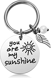 JZSTA You are My Sunshine Keychain Gift for Daughter, Granddaughter Birthday