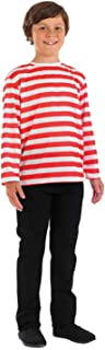 Kids Where Am I Striped Top Costume Childrens Book Character Outfit
