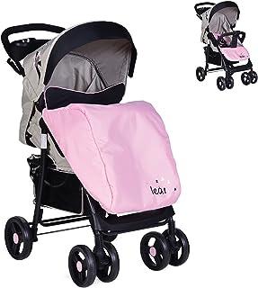 Moni Barnvagn Lea, framhjul vridbar, fotskydd, mugghållare, rosa