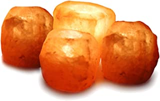 GEOFOSSILS® Portavelas de sal del Himalaya, 4 unidades