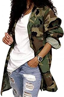 Women's Lightweight Military Casual Camouflage Shirt Jacket