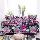 WXQY Flores Tropicales y Hojas Funda elástica para sofá sillón Sala de Estar sofá Funda Protectora para Muebles A9 3 plazas
