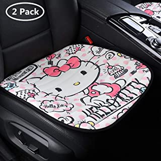 DPIST Hello Kitty Car Seat Covers Protector 2pcs,Universal Fit,Used Four Seasons