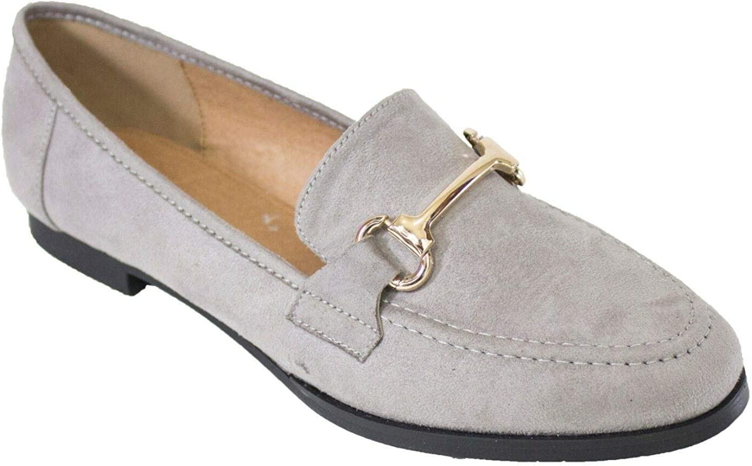 Womens Loafers Brogues Flat Shoes Snake