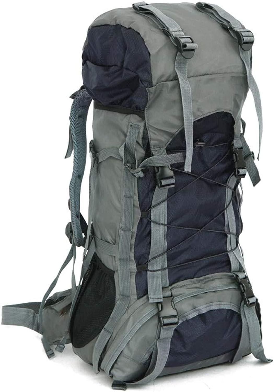 KIOio Outdoor Camping Rucksack 60L Innenrahmen Outdoor Schulter Sporttasche Wasserdichte Oxford Bergsteigen Tasche (Farbe   Schwarz) B07PK4JFS7  Sonderaktionen zum Jahresende