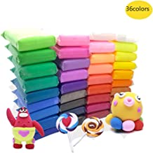 Szsrcywd 36 PCS Colorful Kids Modeling Soft Clay Air Dry Clay Studio Toy 36 Bright Color..