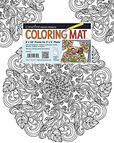 Crescent Creative Products Crescent Sweet Pea Mandala Coloring Mat - 8