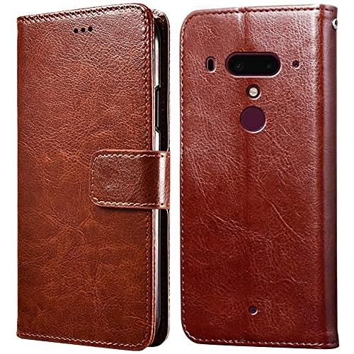 Hülle für HTC U12 Plus,Handyhülle für HTC U12 Plus,Klappbar Tasche Hülle,Standfunktion,Kartenfach,Silikon Bumper,Stoßfeste Schutzhülle Cover für HTC U12 Plus(6