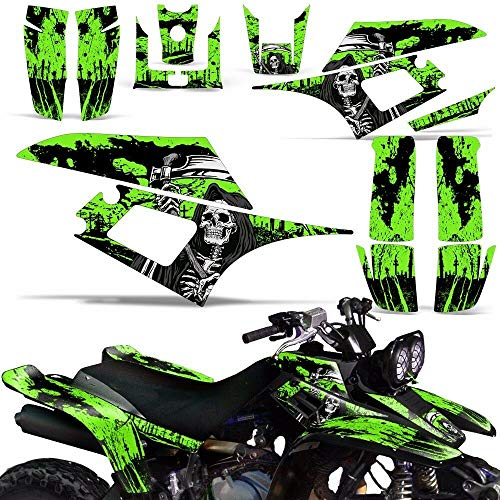 Wholesale Decals ATV Graphics kit Sticker Decal Compatible with Yamaha Warrior 350 All Years - Reaper V2 Green