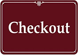 Check-Out Business Sign Feature Department Store Signs Vinyl Sticker Decal 8