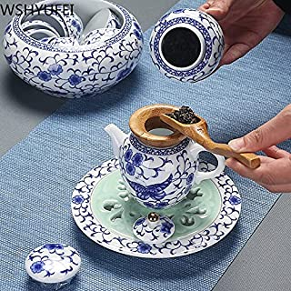 ICYSTOR Authentic Blue and white Porcelain Teaware Sets Exquisite Ceramics Gaiwan Teacup Master handmade Tea set household...