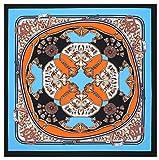 Bellette Panuelo de Seda Fulares Pañuelos para la cabeza Bufandas Pañuelo de Cuadrado para Mujer 100 * 100cm
