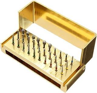 30pcs High Speed Carborundum Bur FG with Aluminium Alloy Shelf, Teeth polishing Drill Bits Diamond Burs Sanding Accessories